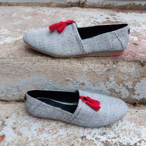 Toms glen dot plaid Kelli shoes size 10